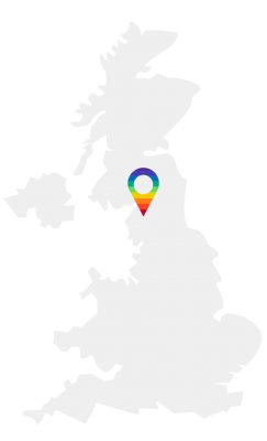 Map of the UK that shows Preston, Lancashire