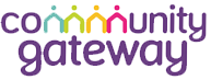 Community Gateway Logo. Community Gateway is a supporter of Preston Pride in Lancashire
